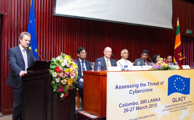 Developing Soft infrastructure, a priority of Govt, says Eran Wickramaratne at EU Cybercrime Conference